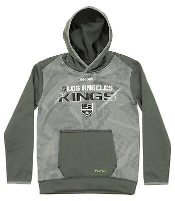 NHL Los Angeles Kings Youth BoysStandard Issue Fleece Hoodie 14-16 Black Large