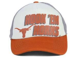 d3491f9b5c8 NEW University of Texas Longhorns Hat Cap Mesh Foam Trucker Hook  Em ...