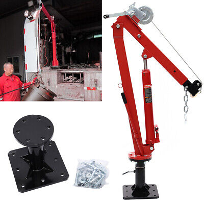 Hydraulic Crane Hoist Truck Pickup Crane Winch Pump Long Ram Jack 1000lbs