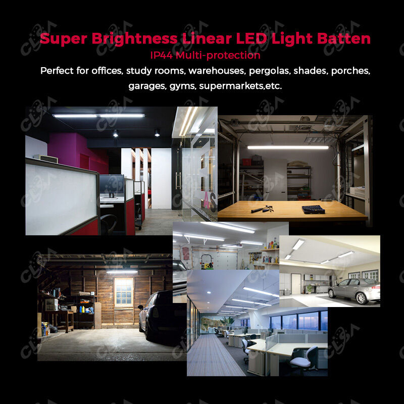 150w Linear Led Light Fixture: 20W Slimline LED Batten Linear Light Tube Fixture Ceiling