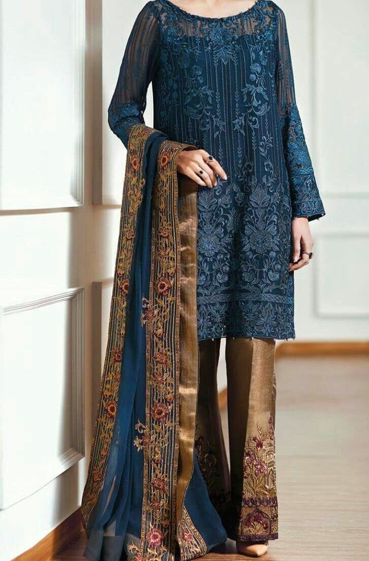 Designer Pakistani Shalwar Kameez New-Medium