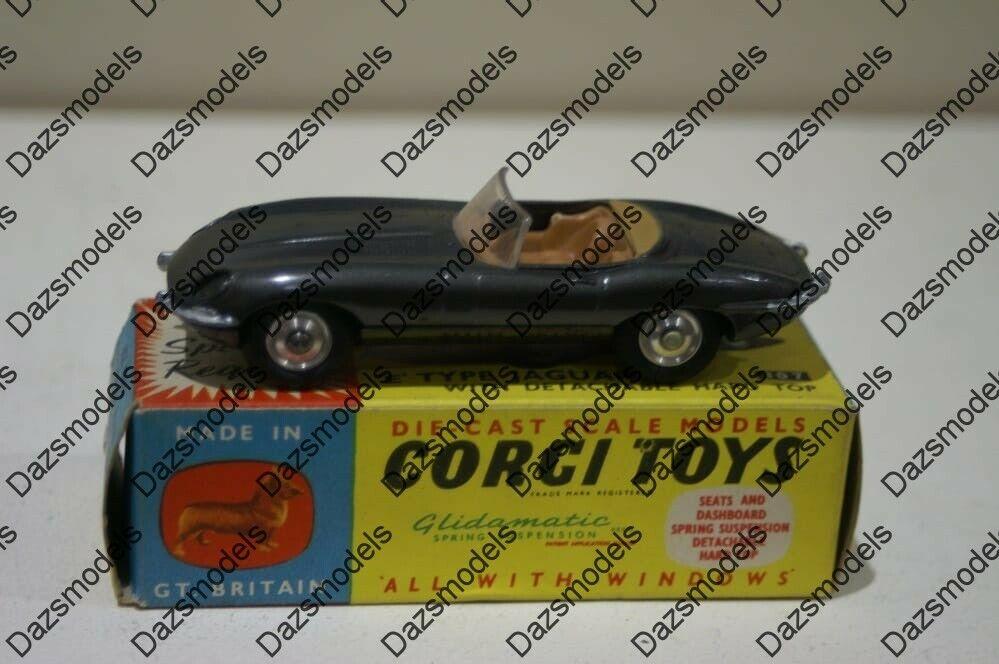 Corgi Toys E Type Jaguar 307 Roof Missing