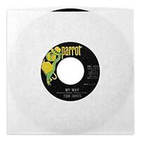 100 Pack - White Paper 7 45rpm Sleeves /45 Rpm/single/singles Sleeve Vinyl 45s