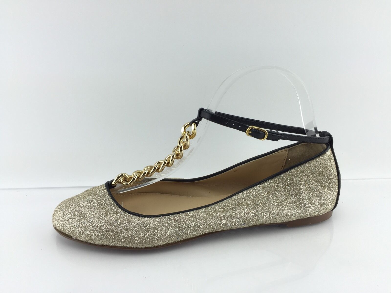 J Crew Women's gold Glittered Flats 7