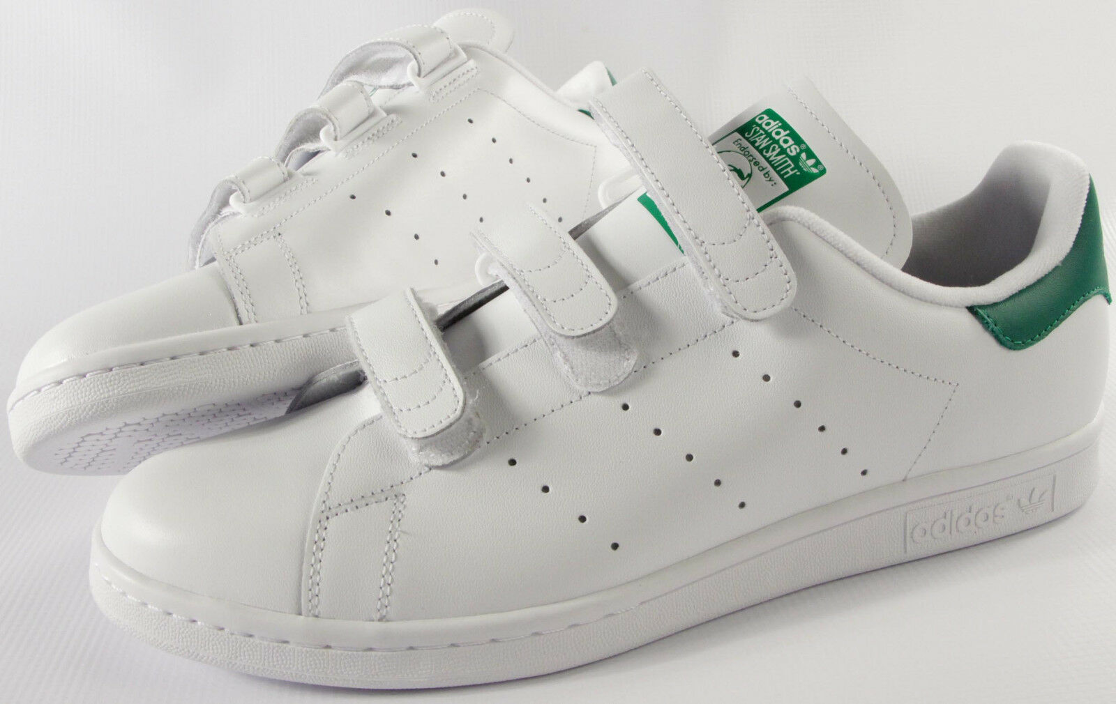 ADIDAS ORIGINALS Stan Smith 3 STRAP shoes- NEW- CF classic White tennis sneakers