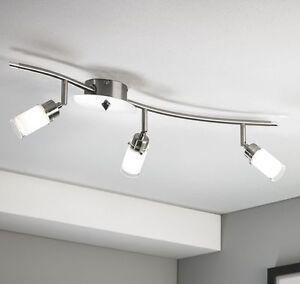 LED Deckenlampe Deckenstrahler Spot Glas Schiene Wohnzimmer Küchen ...