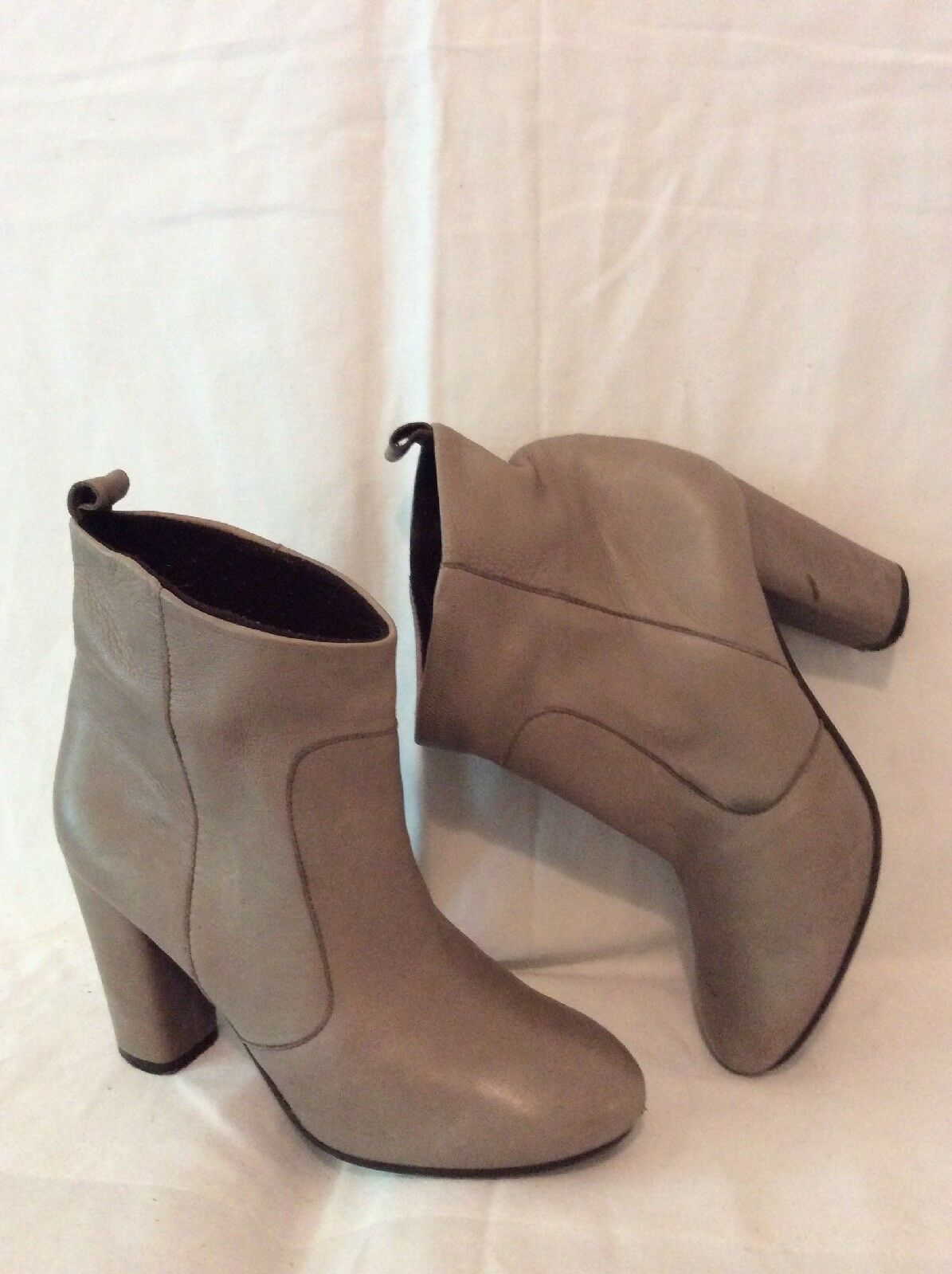 Dune Brown Ankle Leather Boots Size 37