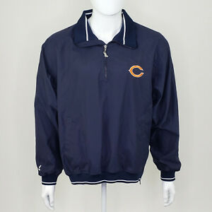 Spotlight NFL Chicago Bears Men's Blue White Quarter Zip Jacket Size Medium M