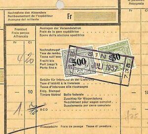 Suisse Chemin De Fer Parcel Card 5fr30c * Péchés * Station Datestamp {samwells} P122 Qualité Et Quantité AssuréE