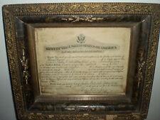 World War I Promotion Certificate in Vintage Frame –Camp Eustis, Va. (Oct. 1918)