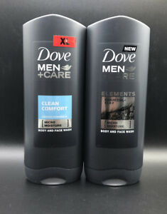Dove Men Care Body And Face Mosture Wash Clean Comfort Twin Pack 400ml Each Ebay