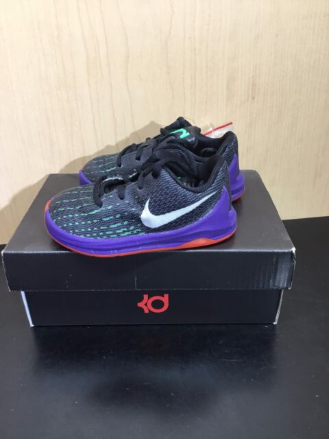 1dfbc4c6042 Nike 768869-003 KD 8 Black Purple Toddler Basketball Shoes Size 5c ...