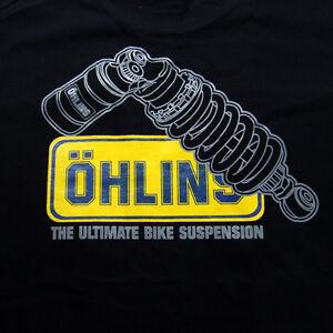 ohlins suspension 1198r zx10r zx6r ninja gsx r s1000 rr t shirt black m l xl xxl ebay. Black Bedroom Furniture Sets. Home Design Ideas