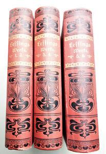 Details Zu Lessing S Sämtliche Werke Bd 1 6 Um 1930 Gedichte Lieder Oden Fabeln Briefe