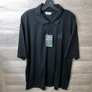 Details about On Tour Mens Plus Size 2XL Black Moreno Short Sleeve Polo Shirt NWT