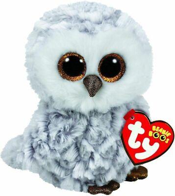 Owlette Il Bianco Owl Peluche Giocattolo, Ty Beanie Boo's Collection 6' (15cm) Styling Aggiornato