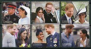 Jersey-2019-MNH-Prince-Harry-amp-Meghan-1st-Wedding-Anniv-6v-Set-Royalty-Stamps