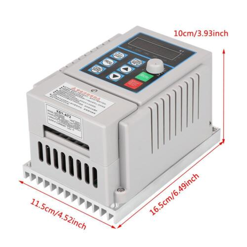 220V Variable Frequency Drive VFD Inverter for Single-phase 0.45kW AC Motor ams