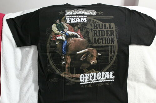 COWBOY BULL RIDER RIDING RODEO TEAM ROUNDUP T-SHIRT SHIRT