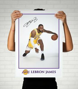A3 A2 A1 Sizes Lebron James NBA Cleveland Cavaliers Autographed Poster Print