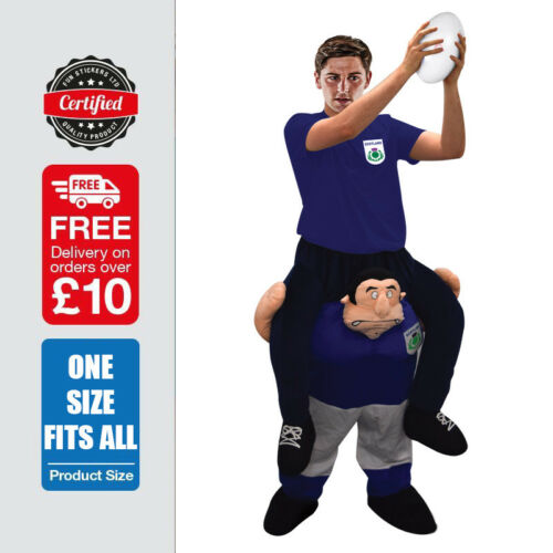 Line Out Rugby Fancy Dress Costume 6 Nations Man Carrying You