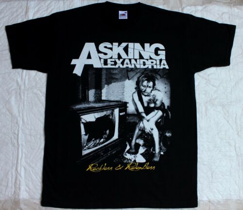 ASKING ALEXANDRIA RECKLESS AND RELENTLESS METALCORE BLACK T-SHIRT