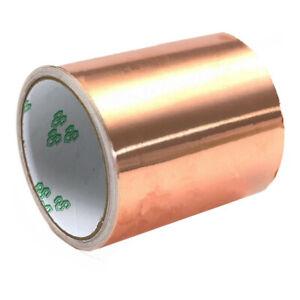 100mm-x-5M-Pure-Copper-Foil-EMI-Single-Side-Conductive-Guitar-Shielding-Tape