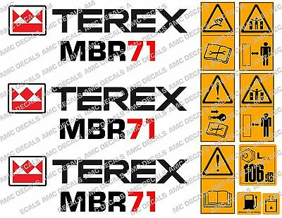 Terex Mbr71 Roller Decals Stickers Harmonious Colors