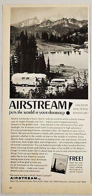 1959 Airstream Beach Vintage Print Ad
