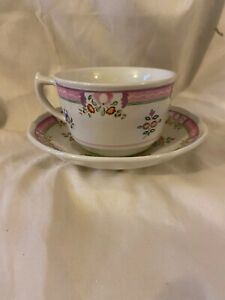 LAURA-ASHLEY-ALICE-China-Cup-amp-Saucer-Pink-amp-Green-Floral-Pattern-ENGLAND