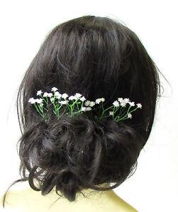 flower hair pin Bridal hair pin flower girl bridesmaid accessories, wedding hair accessories babys breath gypsophila hairpin