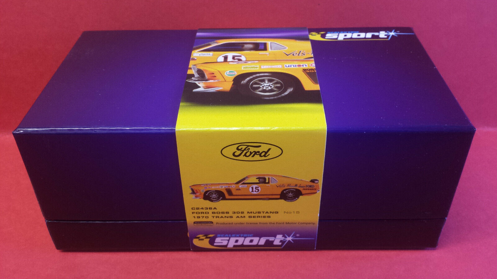 SCALEXTRIC SPORT C2436A LTD.ED. FORD MUSTANG 1970 TRANS AM PARNELLI JONES.