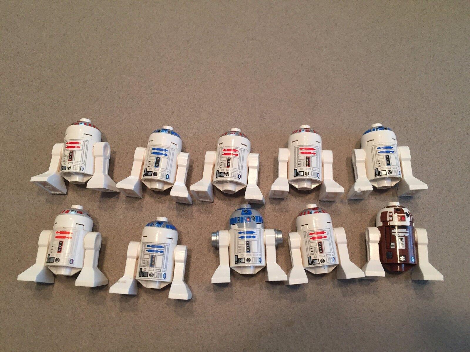 LEGO Star Wars Astromech Droid Lot of 10 minifig  R2-D2 R5-D4 A382