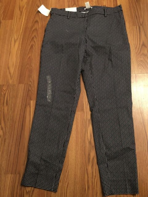 world-wide renown Clearance sale deft design NWT H & M Pants Blue Red White Floral Geometric Trousers Slacks Crop 12 HM