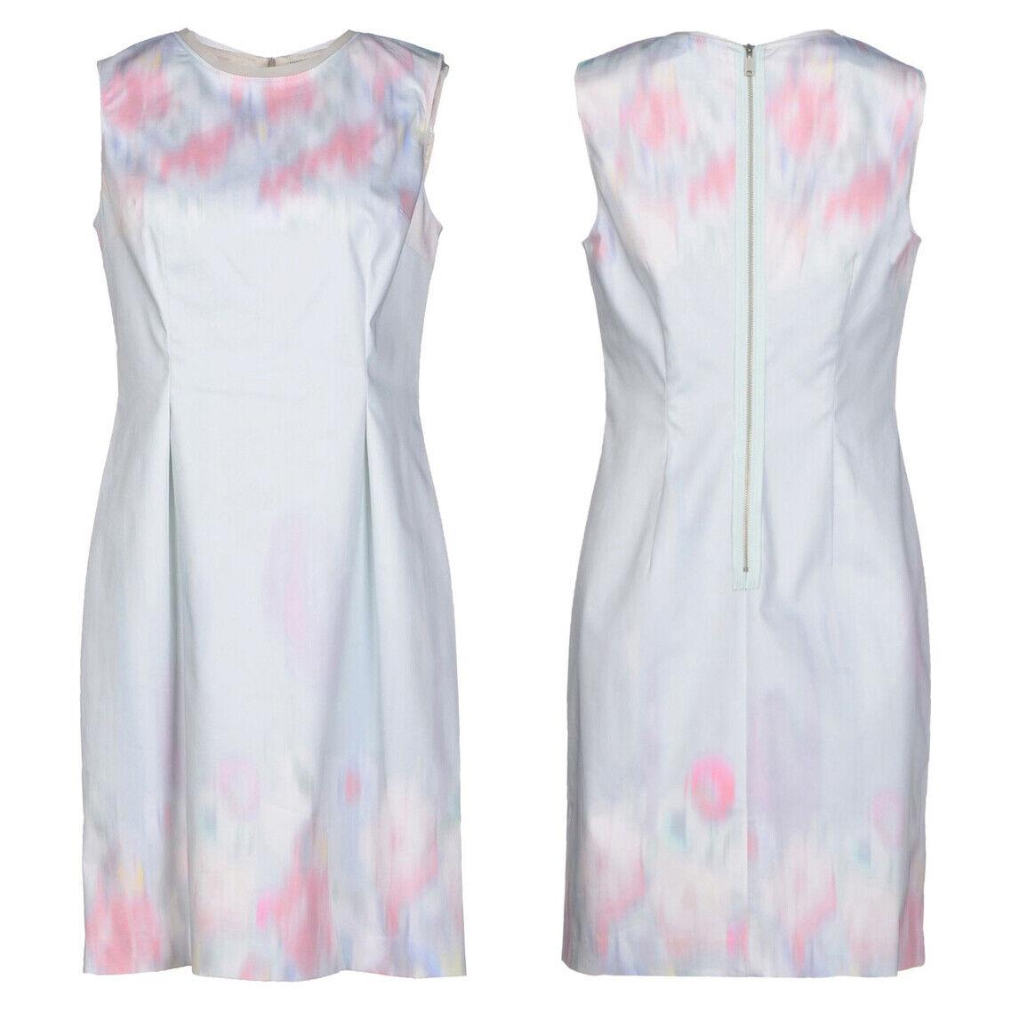 ELIE TAHARI Soft Sky Blau WaterFarbe Pastel Garden Party HOLLY Sheath Dress NWT
