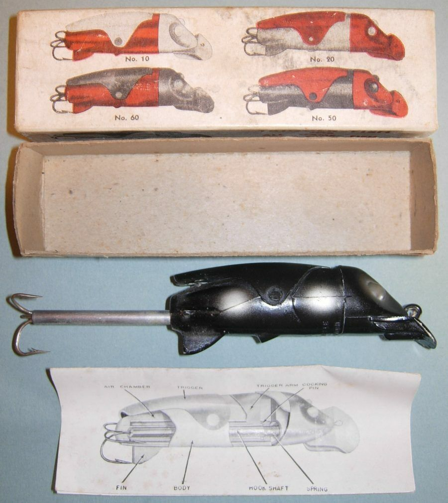 ANTIQUE  MINTY BOXED W PAPERWORK DETROIT MI GAN TRIGGERFISH FISHING LURE  manufacturers direct supply