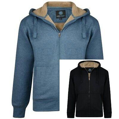 Mens Big Size Sherpa Lined Navy Twist Hoodie Hooded Sweatshirt 3XL 4XL 5XL 6XL
