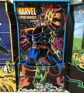 Arcade1up-Cabinet-Riser-Graphics-Marvel-Super-Heroes-THANOS-Sticker-Decal-Set
