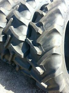 TWO-New-380-85R34-14-9R34-Radial-FORD-JOHN-DEERE-Tractor-Tires