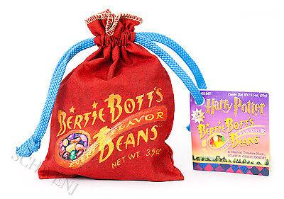 Harry Potter Bertie Bott/'s Every Flavor Beans Bag Red w// Blue Drawstring 3.5oz