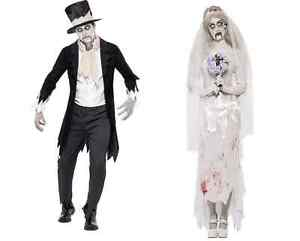 zombie geist braut und br utigam kost m halloween paar kost me ebay. Black Bedroom Furniture Sets. Home Design Ideas