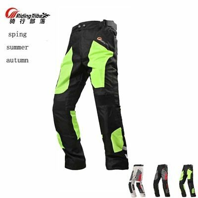 S-Tall Motorcycle Sport Mesh Riding Pants Black with Removable CE Armor PT3