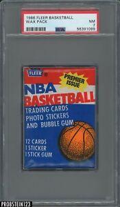 1986 Fleer Basketball Sealed Unopened Wax Pack PSA 7 NM Michael Jordan RC Yr