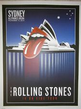 Rolling Stones 2014 lithograph poster  - 14 on FireTour LITHO sydney australia