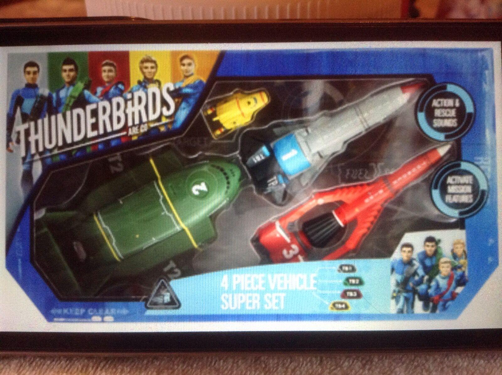 Thunderbirds Are Go - SET de 4 VEHICULES Interactif (Version Anglaise)