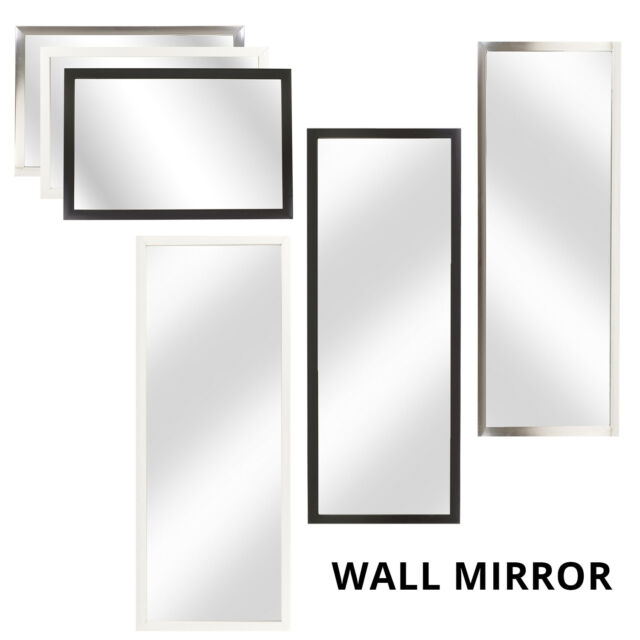 Framed Rectangle Bevelled Wall Mirror