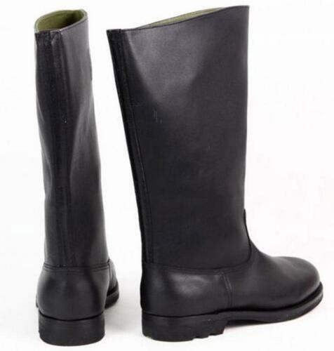 Fashion Military WWII German EM Leather Combat Officer Boot Riding Boots In Size