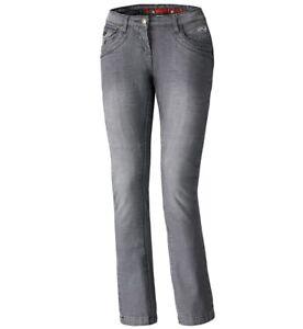 Held-Crane-Motorradjeans-Damen-Groesse-31-Grau-Stretch-Jeans-Bikerjeans