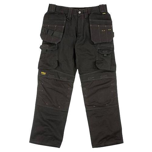 DEWALT PRO CANVAS WORK TROUSERS schwarz DWC25-001 WAIST Größe 30-42  LEG 29-33
