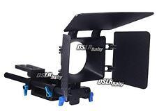 Fotga DP500 Matte Box + 15mm Rail Rod Support Kit Baseplate für Follow Focus Rig